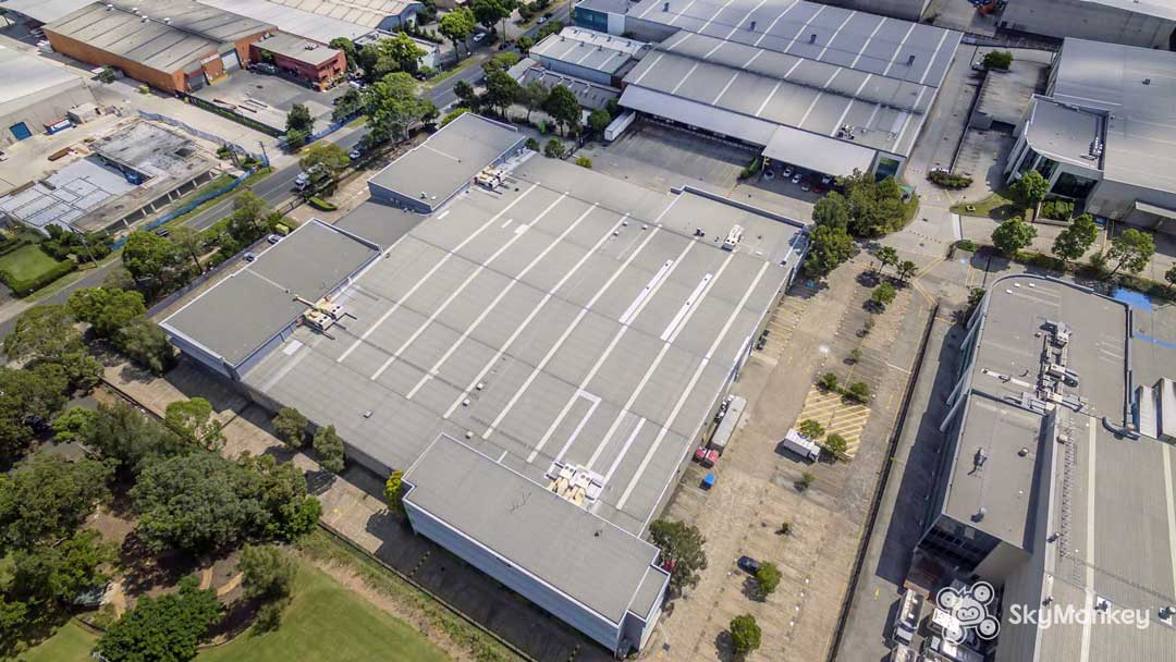 Drone images of commercial buildings around Sydney